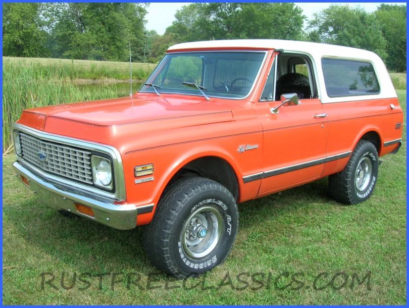 1972 K5 Cst Cheyenne Factory 4x4 Blazer Hugger Orange